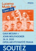Lucerna Music Bar Open Air - Gaia Mesiah + John Wolfhooker - 26.8.2020